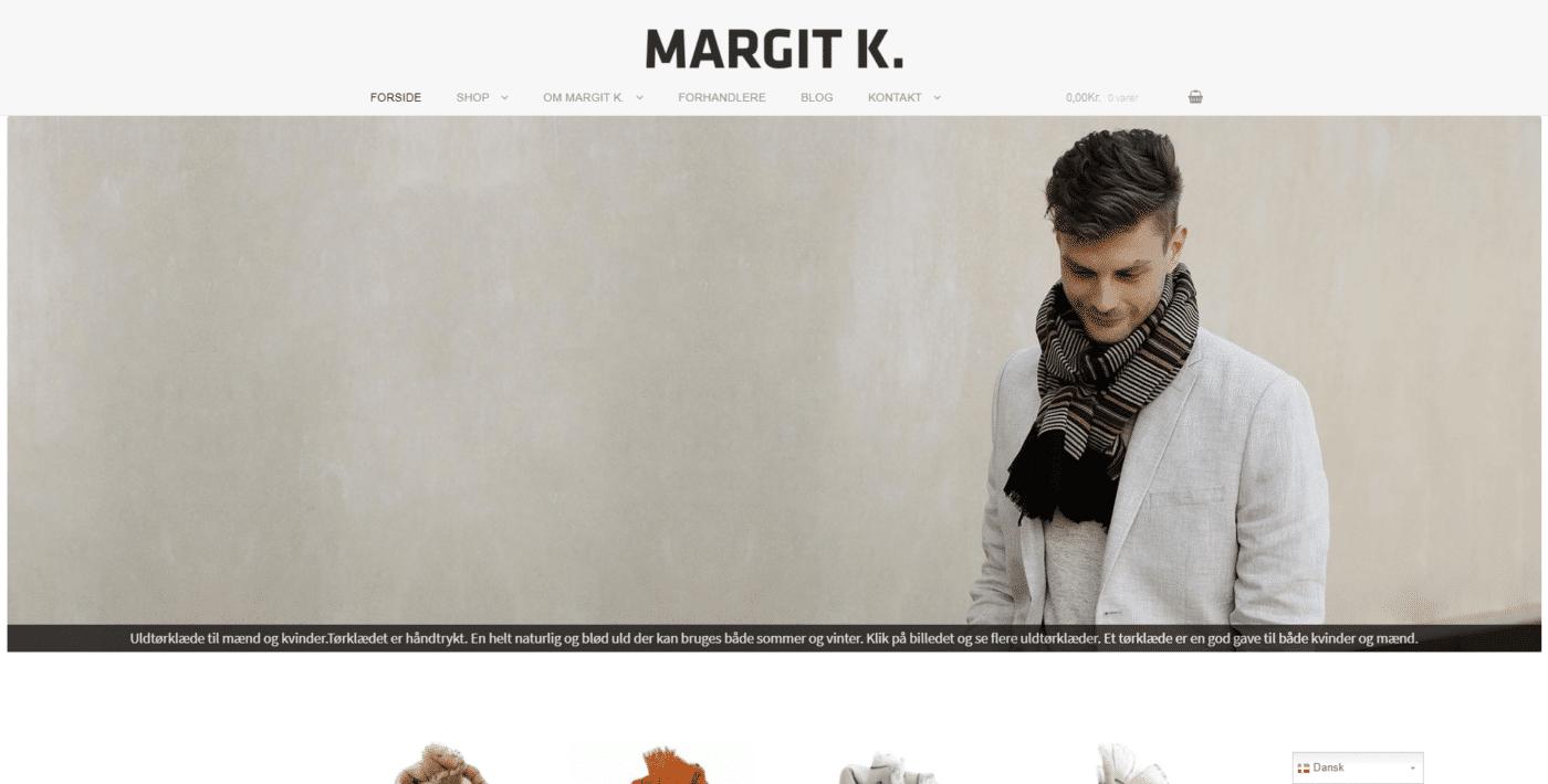 Webshop Case Design af kvalitets tørklæder puder og plaider • MARGIT-K.
