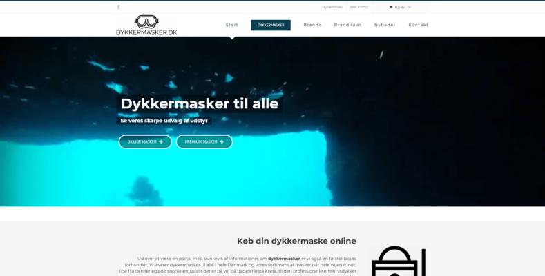 Webshop Case Dykkermasker.dk specialist i dykkermasker og andet head gear