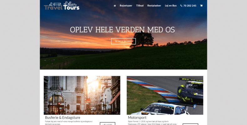 Webshop Case Forside • Travel Tours Rejser