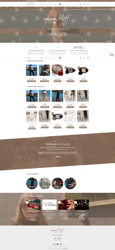 Professionel webshop - Dreams by Moff