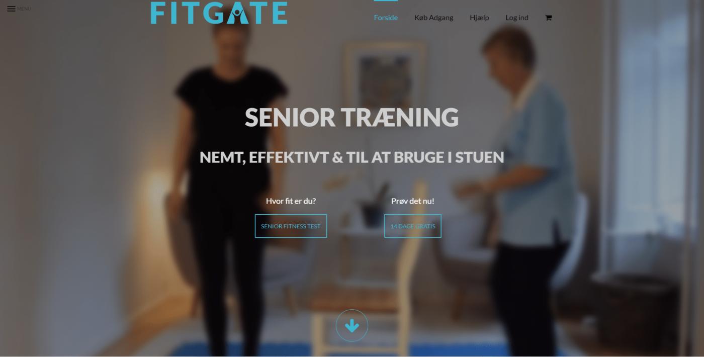 Webshop Case Forside Start FitGate.dk En aktiv hverdag