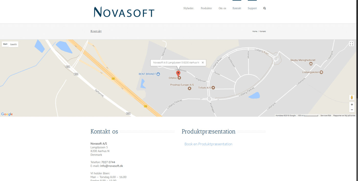 Hjemmeside Case Novasoft I Danske kvalitets IT Løsninger
