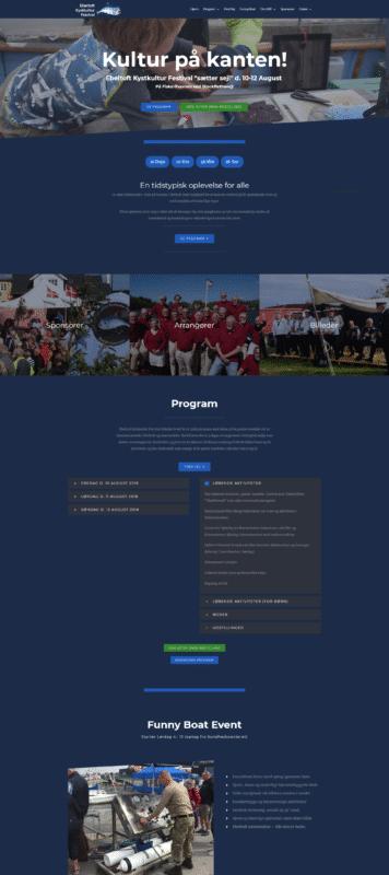 Hjemmeside Case Kultur på kanten! - Ebeltoft Kystkultur Festival