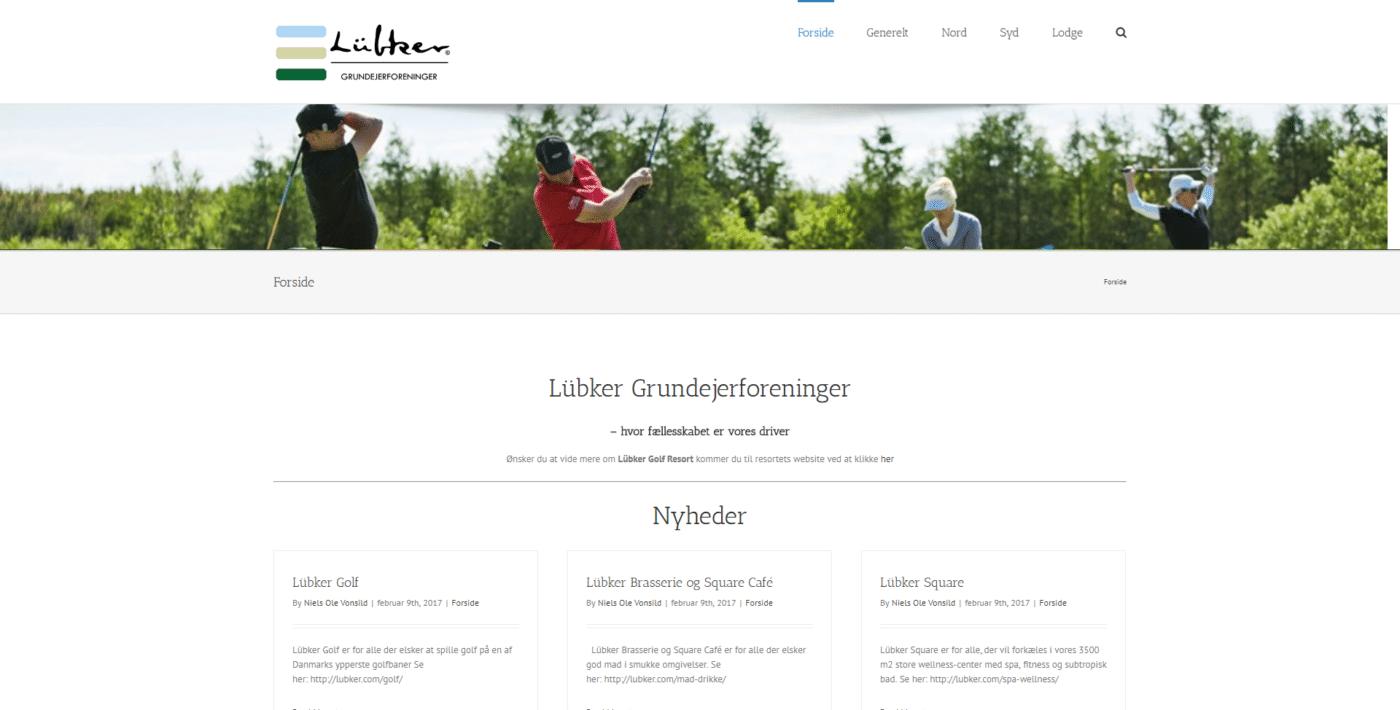 Hjemmeside Case Lübker Grundejerforeninger - LübkerGrundejerforeninger