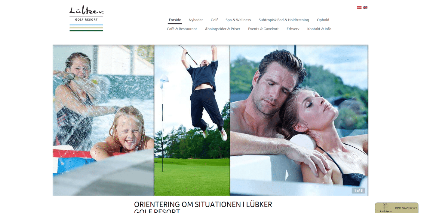 Hjemmeside Case Lübker I Lübker Golf Resort