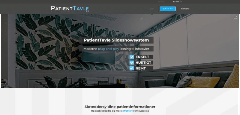 Webshop Case Patienttavle.dk
