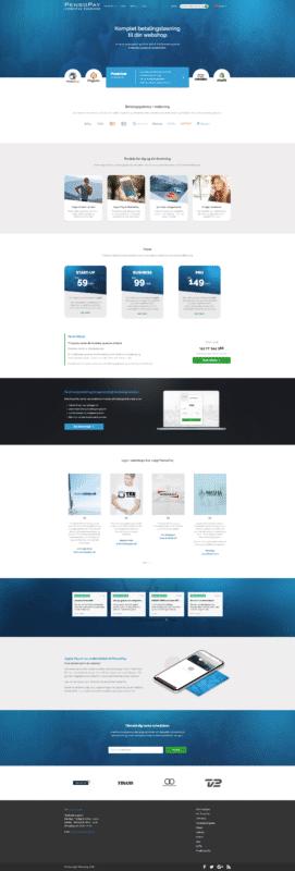 Billig hjemmeside - PensoPay