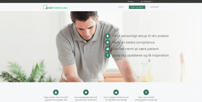 Webshop Case Sund Formidling Opslagsværk til Fysioterapeuter