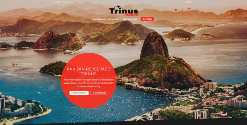 Professionel og billig webshop - Trinus Rejser